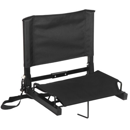 Zeny Stadium Seats Bleacher Seat Chairs with Backs and Cushion, Folding & Portable, Bonus Shoulder Straps