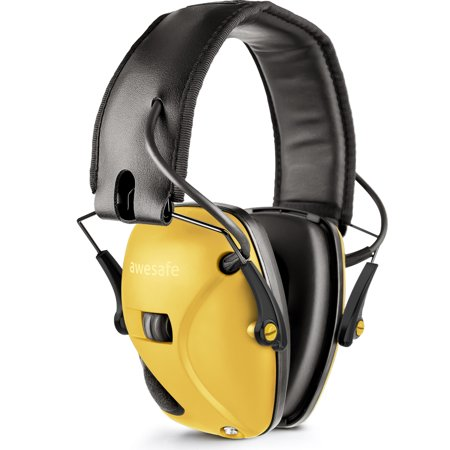 awesafe Electronic Shooting Earmuffs, Shooting Hearing Protection with Noise Reduction Sound Amplification thumbnail