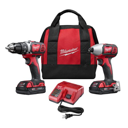 Milwaukee M18 18-Volt Lithium-Ion Cordless Drill Driver/Impact Driver Combo Kit (2-Tool) w/(2) 1.5Ah Batteries, Charger, Tool Bag (New Open (Best Cordless Drill Impact Driver Combo)