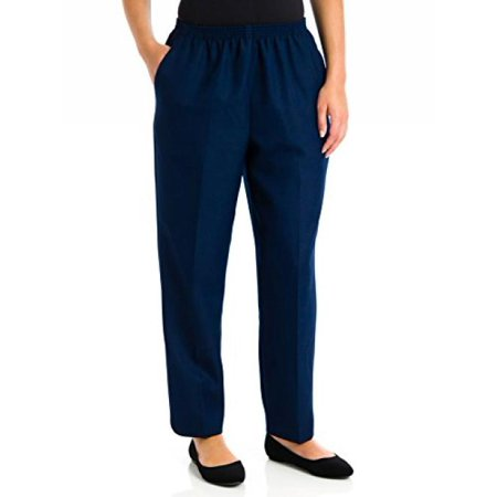 Alfred Dunner Petites' Pull-on Flat-Front Pants Navy 6P (Alfred Dunner City Life Pull On Pants)