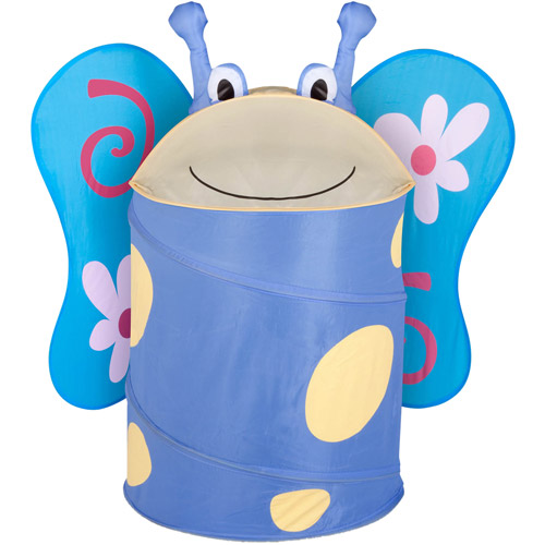 Honey Can Do Large Collapsible Kids Pop-Up Hamper, Butterfly