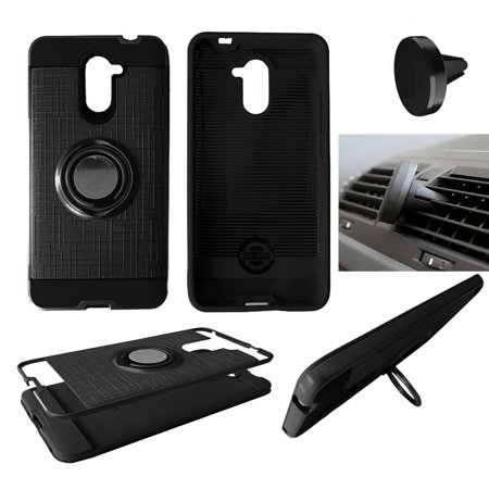 Phone Case For Huawei Ascend XT2 / Huawei Elate (H1711) Cover Ring-Stand  with Magnetic Car Holder ( Ring-Stand Black with Magnetic Holder )
