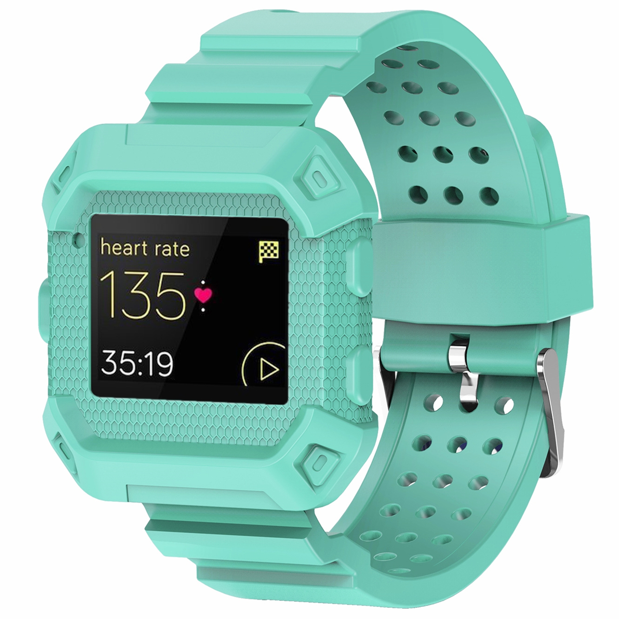 For Fitbit Blaze Band, Rugged Protective Wristband Case with Strap for Fitbit Blaze(Army Green)