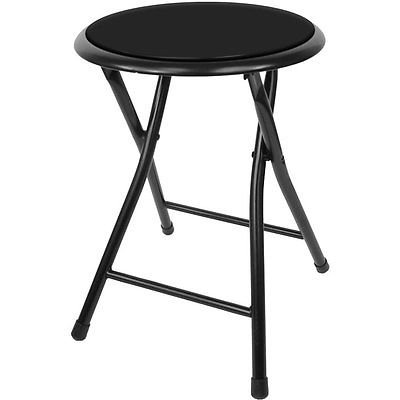 18 Inch Cushioned Folding Stool - Trademark Home Collecti...