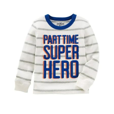 OshKosh B'gosh Little Boys' Super Hero Thermal Tee, 5-Toddler](Boy Superhero)