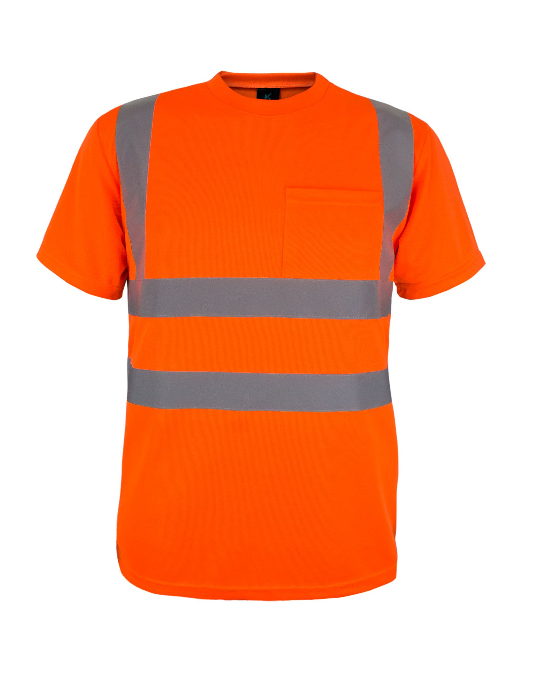 ANSI Class 2 Compliant Kolossus Basic High Visibility Vest with Frontal Pocket and Zipper