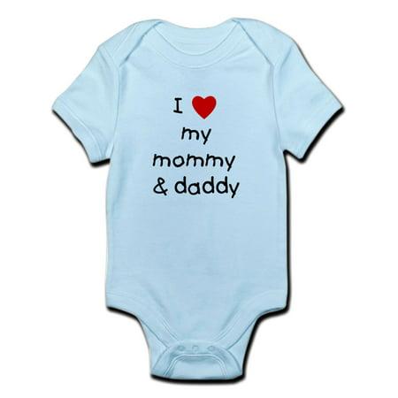 CafePress - I Love My Mommy & Daddy Infant Bodysuit - Baby Light Bodysuit