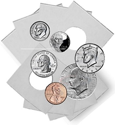 Coin Supplies PVC Free 1000 2x2 Vinyl Flips Coin Holders Archival Safe