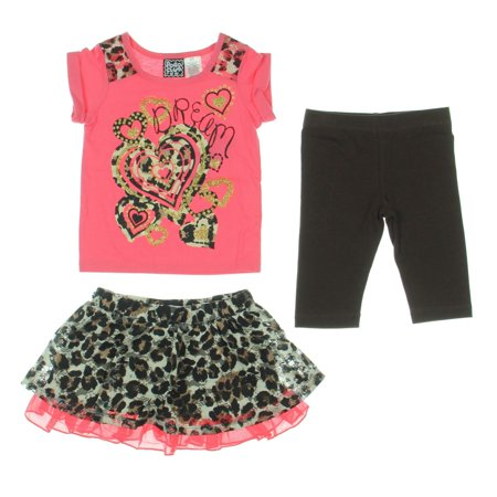 Pogo Club 3Pc Toddler Skirt Outfit