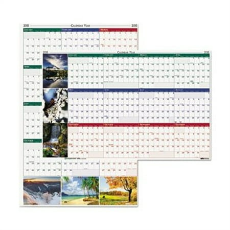 House Of Doolittle Earthscapes Nature Scene Reversible Erasable Yearly Wall Calendar  18 X 24  2015 Hod3930