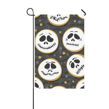MKHERT Halloween Scary Faces Garden Flag Banner Decorative Flag for Wedding Party Yard Home Outdoor Decor 12x18 inch