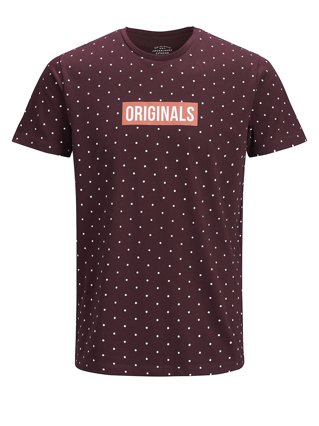 Polka Dot-Print Crewneck Cotton Tee