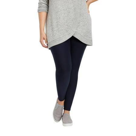 70fb179f71eeee Maurices - Plus Size Ultra Soft Navy Legging - Walmart.com