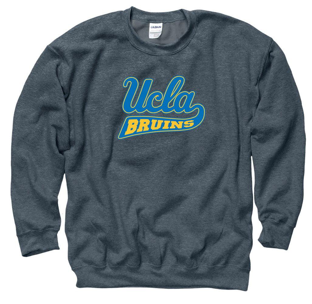 UCLA Cursive Men's Crew-Neck sweatshirt-Charcoal