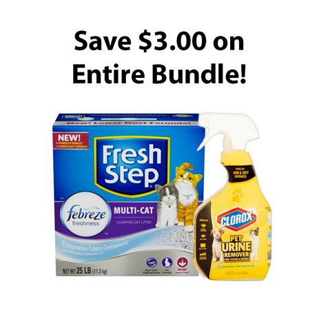Fresh Step Litter And Clorox Pet Urine Remover Bundle