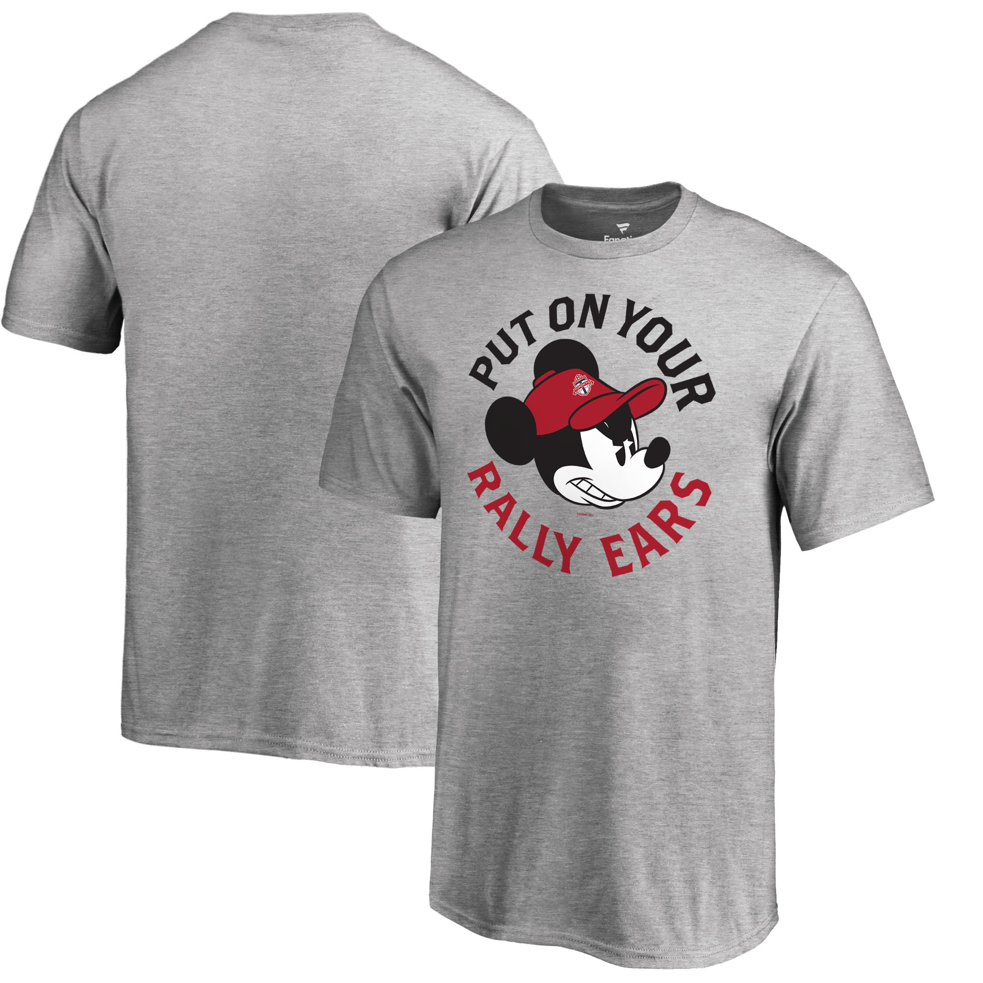 Toronto FC Fanatics Branded Youth Disney Rally Ears T-Shirt - Heathered Gray