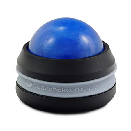 Massage Roller Ball - Handheld Self Massage Therapy Tool for Sore Muscle Recovery, Pain Relief by Body Back Company (Blue) ()