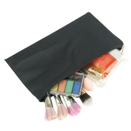 Little Black Travel Case - Zodaca Pencil Case Toiletry Holder Cosmetic Bag Travel Makeup Zip Storage Organizer