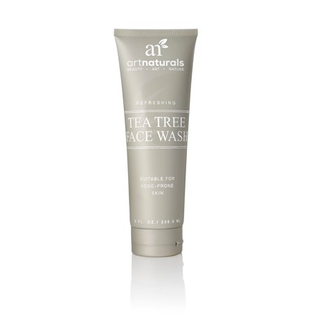 artnaturals Tea Tree Face Wash -  - Helps Heal and Prevent Breakouts, Acne and Skin Irritation - Green Tea, Tea Tree Essential Oil, and Aloe