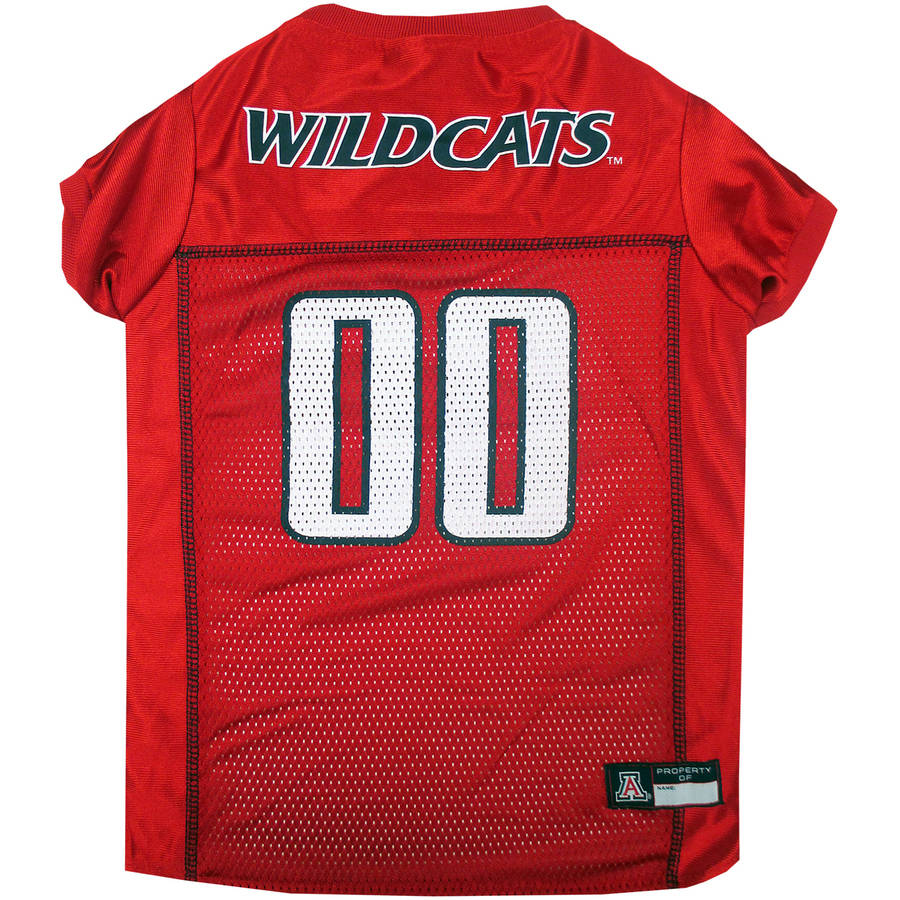 Pets First College Arizona Wildcats Collegiate Dog Jersey, Available in Various Sizes