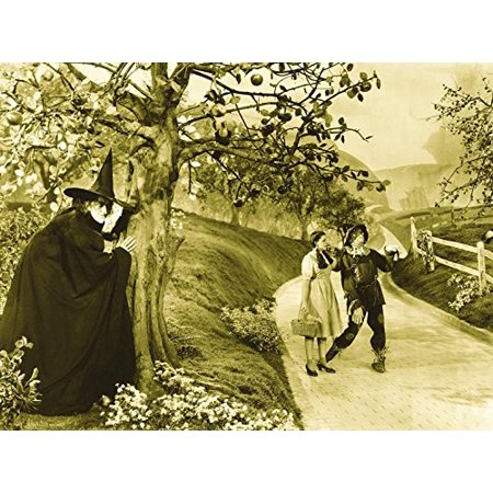 The Wizard of Oz 1939 16x12 Movie Art Print Poster Photograph Wicked Witch Dorothy and Scarecrow on Yellow Brick Road POD](Witch Scarecrow)