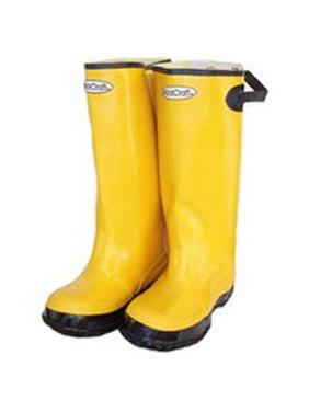 Diamondback Adjustable Cuff Waterproof Over Shoe Boot, 12 In, Unisex, Yellow