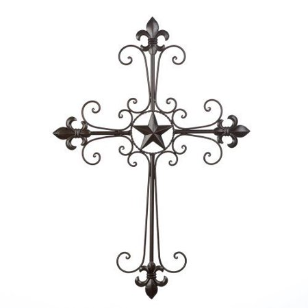 Inspirational Cross (Gifts & Decor Lone Star Wall Cross Spiritual Inspirational Home Decor, By Chom from)