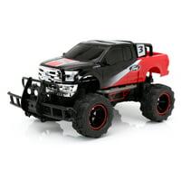 "New Bright RC 1:14 (12.5"") Radio Control Ford F-150 Baja Truck, 2.4 GHz USB - Black/Red"
