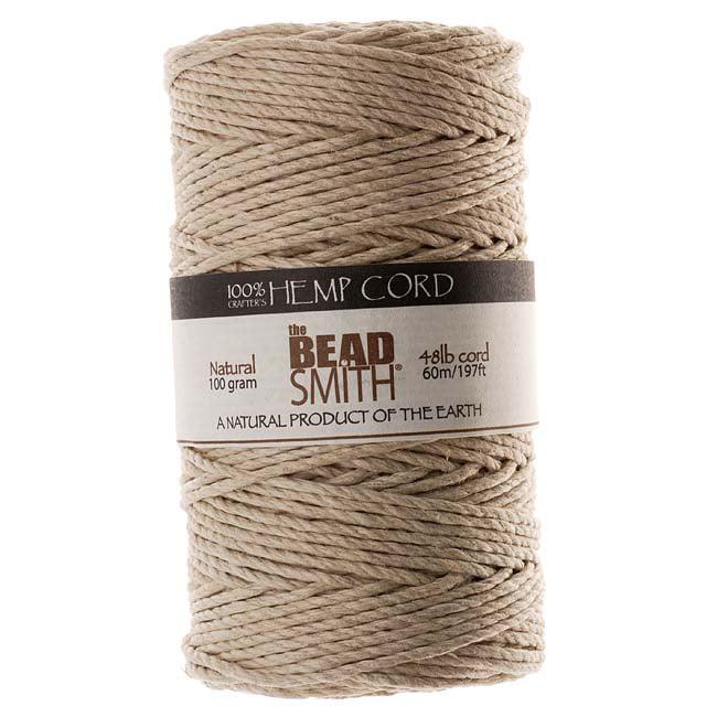 Natural Hemp Twine Bead Cord 2mm / 197 Feet (60 Meters)