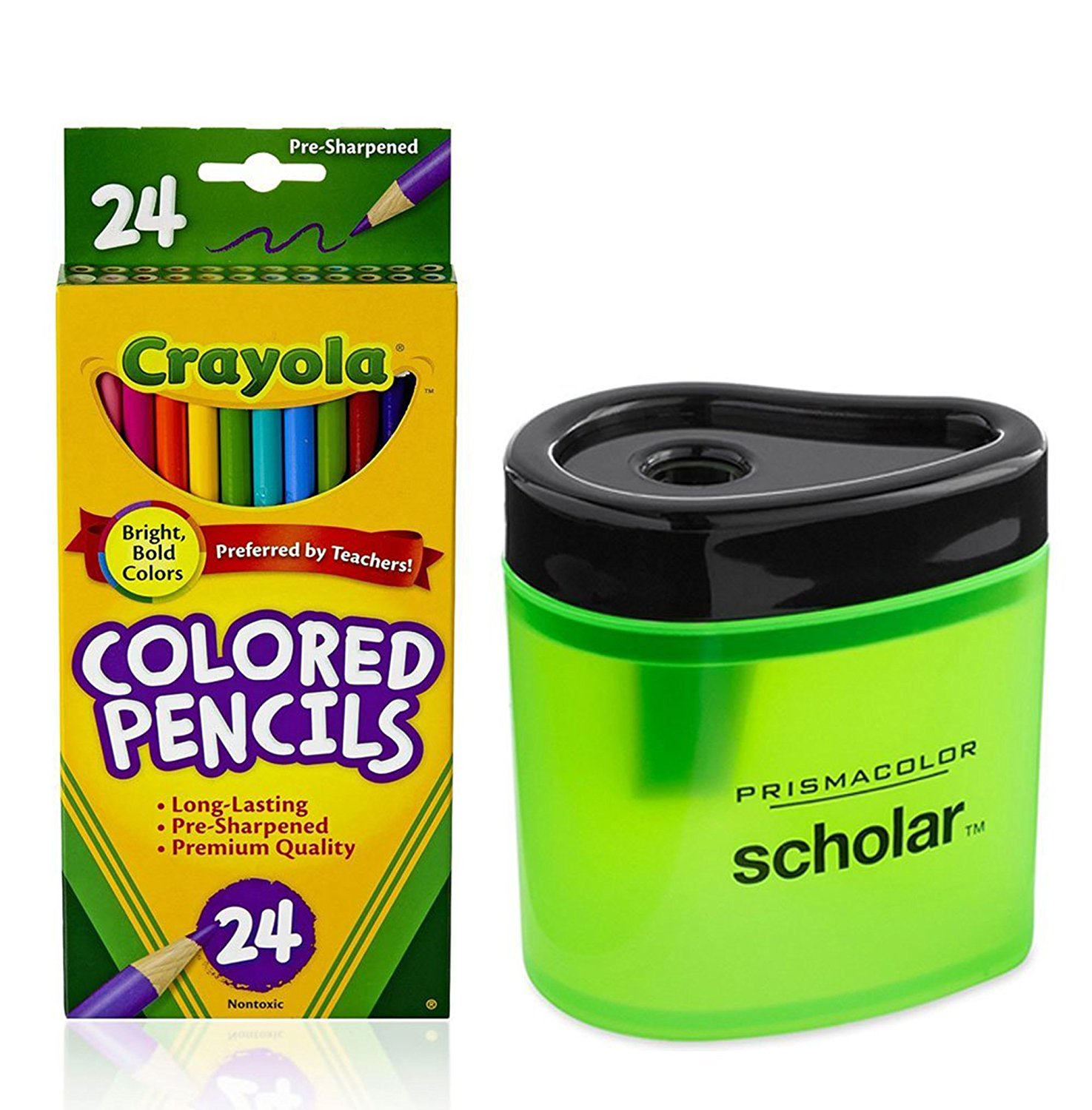 Crayola Colored Pencils and Geometrical Adult Coloring Books Bundle