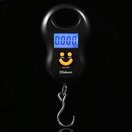 Qiilu Portable 50kg/10g LCD Digital Hanging Weight Electronic Luggage Hook Scale,Luggage Hook Scale, Hanging Luggage Scale - image 1 de 6