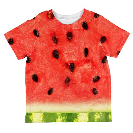 Halloween Watermelon Costume All Over Toddler T Shirt](Halloween Vine Watermelon)