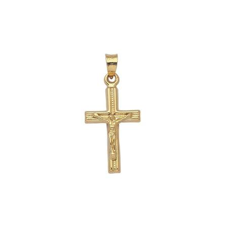 14k Yellow Gold Crucifix Pendant Cross, Pendant Only