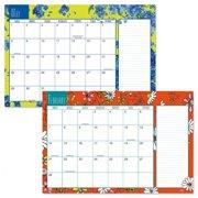 "2021-2022 Tiny Blossoms Calendar Pad - 11"" x 16-1/4"", January 2021 to December 2022"