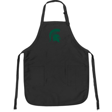 Oklahoma State Apron - Broad Bay Michigan State Apron DELUXE Michigan State APRONS for Men or Women - Grilling, Kitchen, or Tailgating