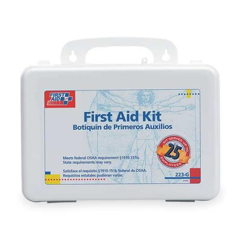 FIRST AID ONLY 223-G First Aid Kit, Bulk, White, 25 People