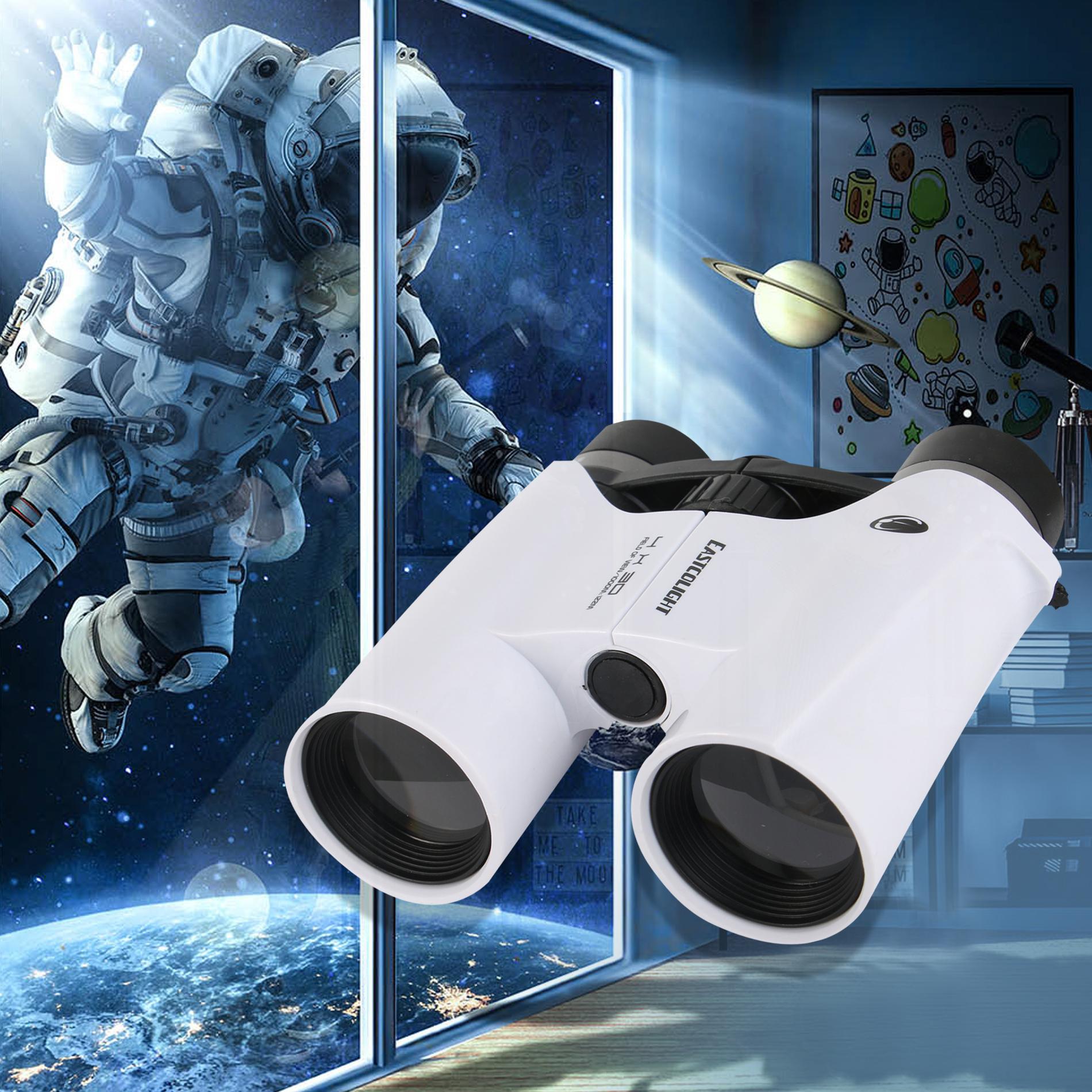 Black Kids Telescopes Handheld Toy Binoculars Telescope Fun Cool Learning Exploring Educational Toy Gift for Kids Boys Girls 3-8 Years