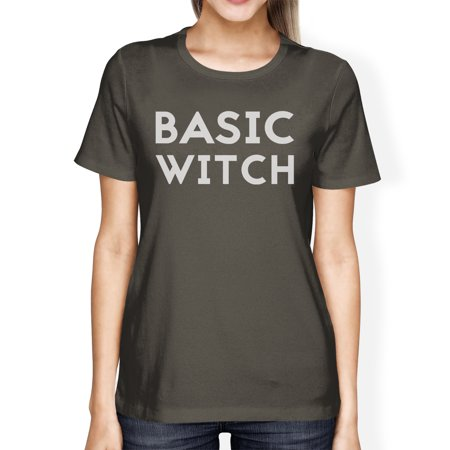 Basic Witch Womens Cute Halloween Costume Tshirt Dark Grey Cotton](Cute Halloween Witch Clip Art)