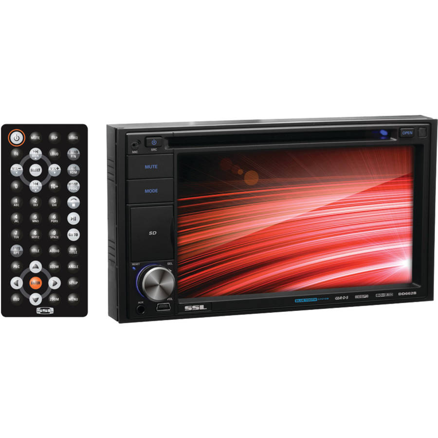 "Soundstorm DD662B 6.2"" Double-DIN In-Dash Touchscreen Multimedia Player, Bluetooth-Enabled"