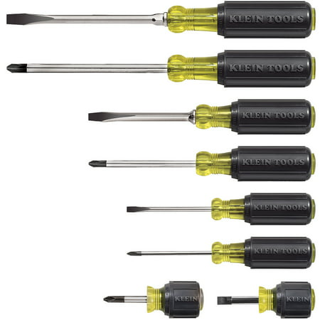 Klein Tools 85078 8 Piece Cushion-Grip Screwdriver Set