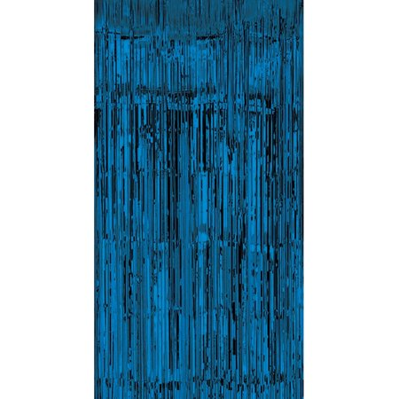 Shiny Blue Tinsel Foil Fringe Door Window Curtain Party Holiday Decoration - Circus Door Decorations