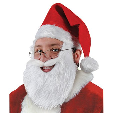 b97e62289 Pack of 6 Plush Santa Hat with Beard and Mustache Christmas Costume  Accessories