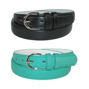 CTM®  Leather 1 1/8 Inch Dress Belt (Pack of 2 Colors) (Women's)