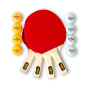 JOOLA All-in-One Hit Set Official Size Table Tennis Bundle with Carrying Case, 4ct Paddles, 8ct Ping Pong Balls