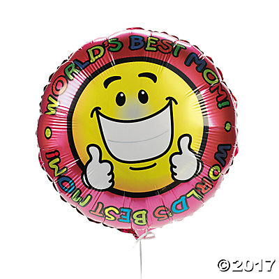 World's Best Mom Mylar Balloons