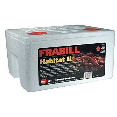 frabill habitat ii foam worm box with super-gro -