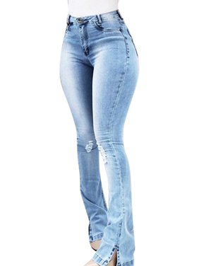 b3765ade Product Image JDinms Womens Bootcut Flare Jeans Bell Bottoms Solid Denim