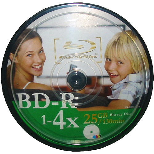 Inland Pro BD-R Burnable Blu-Ray Disks 25-Pack