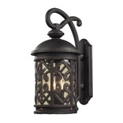 Tuscany Coast 2-Light Outdoor Wall Lantern in Weathered Charcoal