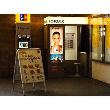Laminated Poster Railway Station Fotofix Vintage Photo Booth Retro Poster Print 11 x 17